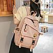 Рюкзак в корейском стиле унисекс для ноутбука учебы в расцветках, фото 5
