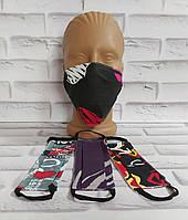 Защитная маска многоразовая хлопок