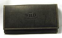 Кожаный кошелек женский темно-коричневый Always Wild