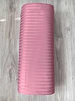 Ткань Сатин Страйп 2.40 ширина 140 плотность 100% хлопок рулоном и в розницу розового цвета