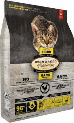 Oven-Baked (Овен-Бакед) Tradition Grain-Free Chicken Беззерновой корм для кошек и котят с курицей 4,54 кг