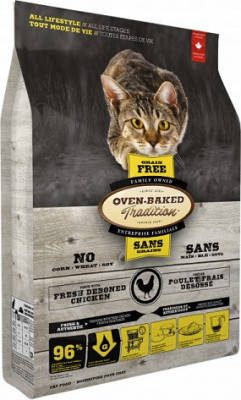 Oven-Baked (Овен-Бакед) Tradition Grain-Free Chicken Беззерновой корм для кошек и котят с курицей 4,54 кг, фото 2