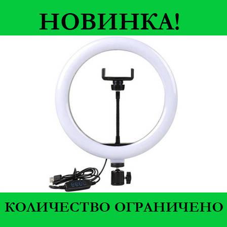 Кольцевая LED лампа LC-330 (1 крепл.тел.) USB (33см)- Новинка, фото 2