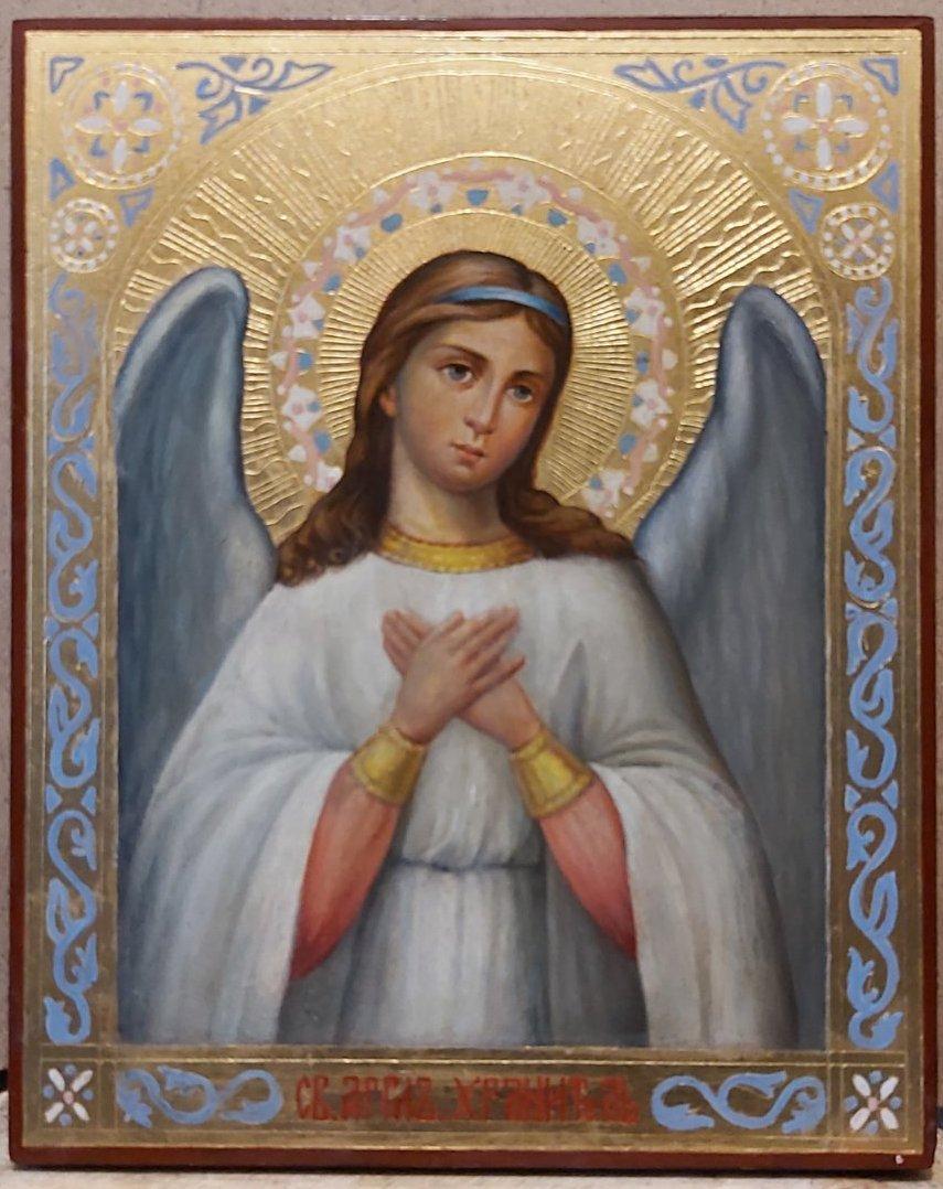 Икона Ангел хранитель 19 век