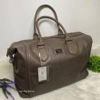 Дорожня сумка з плечовим ременем David Jones коричневая, фото 1