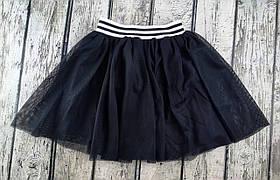 Юбка для девочек сетка черный коттон Papali Украина 11 лет, рост 146 см