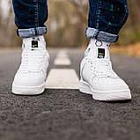 🔥 Мужские кроссовки спортивные повседневные Nike Air Force 1 White Lv8 кожаные найк эир форс белые, фото 5