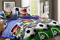 Полуторный подростковый постельный комплект Успешный Футбол, бязь, хлопок