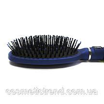 Щетка для волос массажная овальная пластиковая Salon Professional B9550, фото 3