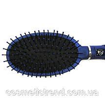 Щетка для волос массажная овальная пластиковая Salon Professional B9550, фото 2