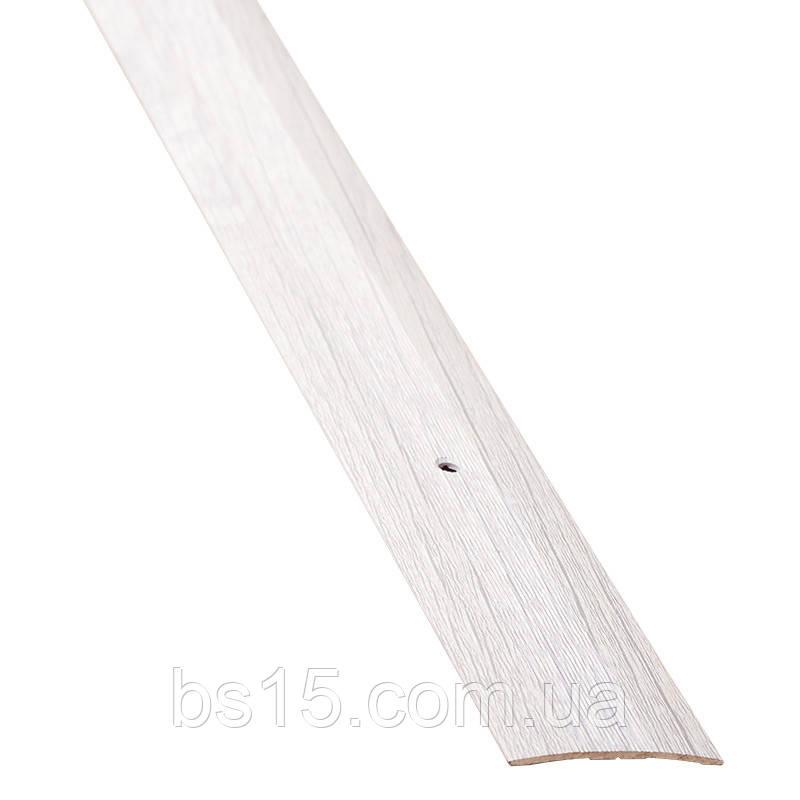 Порог для пола алюминиевый 11А 1,8 метра дуб пепельный 3х80мм , фото 1