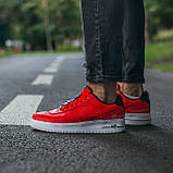 🔥 Мужские кроссовки спортивные повседневные Nike Air Force 1 Just Do It Red найк эир форс красные, фото 2