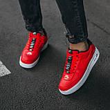 🔥 Мужские кроссовки спортивные повседневные Nike Air Force 1 Just Do It Red найк эир форс красные, фото 3
