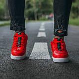 🔥 Мужские кроссовки спортивные повседневные Nike Air Force 1 Just Do It Red найк эир форс красные, фото 4
