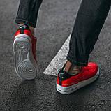 🔥 Мужские кроссовки спортивные повседневные Nike Air Force 1 Just Do It Red найк эир форс красные, фото 7