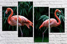 Картина модульная HolstArt Фламинго 100*150 см 4 модуля арт.HAF-192