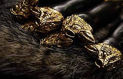 """Авторський набір шампурів """"Шаман"""" з вилкою для зняття люля-кебаб, в шкіряному сагайдаку, фото 3"""