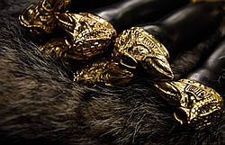 """Авторский набор шампуров """"Шаман"""" с вилкой для снятия люля-кебаб, в кожаном колчане, фото 3"""