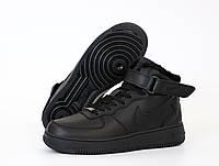 """Мужские зимние кроссовки Nike Air Force 1 Winter High """"Black"""" (копия)"""