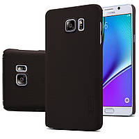 Чехол Nillkin для Samsung Galaxy Note 5 N920 коричневый (+плёнка), фото 1