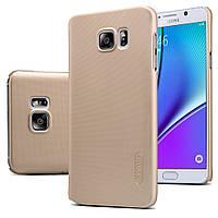 Чехол Nillkin для Samsung Galaxy Note 5 N920 золотистый (+плёнка), фото 1