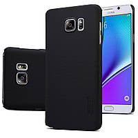 Чехол Nillkin для Samsung Galaxy Note 5 N920 чёрный (+плёнка), фото 1