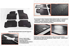 Volkswagen Passat B8 2015↗ рр. Гумові килимки (4 шт, Stingray Premium)