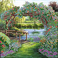 """Схема для вышивания бисером на художественном холсте """"Цветочная арка"""""""