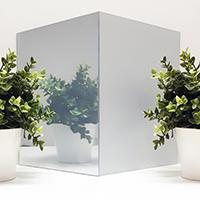 Декоративная плёнка Matt Silver Sun Control для стеклянных перегородок. Ширина рулона 1,524. (цена за кв.м.), фото 1