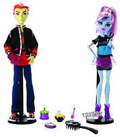 Куклы Monster High Монстер Хай Mad Science Abbey Bominable & Heath Burns Эбби Боминейбл Хит Бёрнс Домоводство