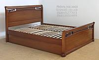 """Кровать двуспальная деревянная с подъёмным механизмом  """"Кристина"""" kr.ks7.1"""