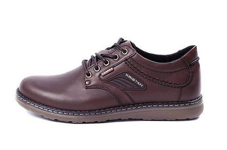 Мужские кожаные туфли Kristan brown, фото 2