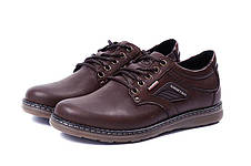 Мужские кожаные туфли Kristan brown, фото 3
