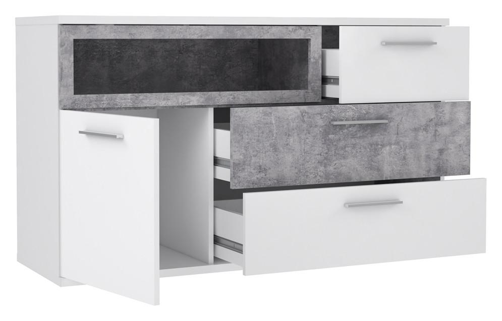 Комод серый бетон куб бетона стоимость в москве