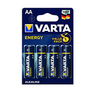 Батарейка VARTA Energy R-6 AA Блистер (алкалайн) 2шт / уп. 80шт. / Уп Ш.К.