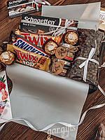 Подарок на 1 сентября учителю, подарочный набор, сладости, коробка-сюрприз, женский набор, подарок мужчине
