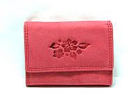 Кожаный кошелёк женский