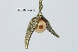 Золотистый кулон «Золотой Снитч», ожерелье из фильма «Гарри Поттера»