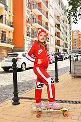 Спортивный костюм для девочки красный Найк Nike