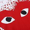 Футболка Comme des Garcons Play біла (ком де гарсон з великим червоним серцем чоловіча жіноча), фото 6