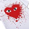 Футболка Comme des Garcons Play біла (ком де гарсон з великим червоним серцем чоловіча жіноча), фото 7