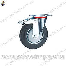 Колеса поворотные с тормозом D-100мм