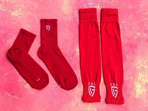 Гетры футбольные без носка + носки GUL(белые)/комплект/обрезки/для футбола, фото 2