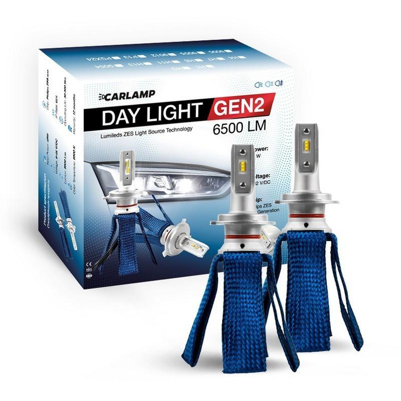 Светодиодные автолампы H7 CARLAMP Day Light GEN2 6000K 6500Lm ZES Led для авто (DLGH7)
