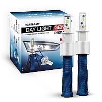 Светодиодные атволампы H3 CARLAMP Day Light GEN2 Led для авто 6000K 6500Lm ZES (DLGH3), фото 1