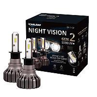 Светодиодные автолампы H3 Carlamp Night Vision Gen2 Led для авто 5000 Lm 5500 K IP68K (NVGH3), фото 1