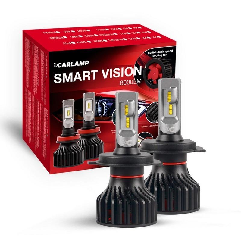 Светодиодные автолампы H4 CARLAMP Smart Vision Led для авто 8000Lm 6500K (SM4)