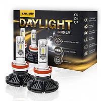 Светодиодные автолампы H3 CARLAMP Day Light Led для авто 6000 Lm 6000 K (DLH3), фото 1
