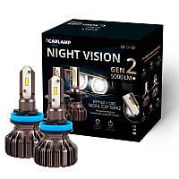 Светодиодные лампы H11 Carlamp LED Night Vision Gen2 Led для авто 5500 K 5000 Лм (NVGH11), фото 1