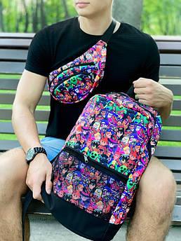 Комплект рюкзак BrawlStars v2 + бананка BrawlStars v2